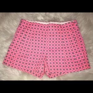 J Crew floral pink shorts. Casual pleated size 0